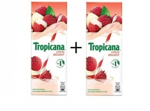 Tropicana Litchi Delight pack of 2